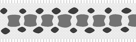 dorsal saddles with one row of side blotches
